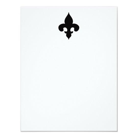Black Fleur de Lis Flat Note Cards
