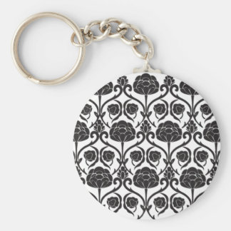 Black Fleur-de-Lis Key Chains