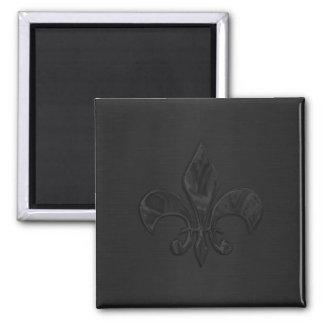 Black Fleur de Lis Magnet