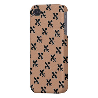 Black Fleur de Lis on Gold Background iPhone 4/4S Cover