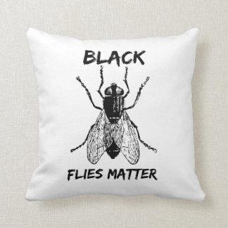 Black Flies Matter Throw Pillow