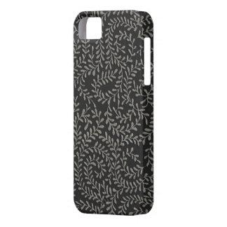 Black Flocked Design iPhone SE/5/5s Case