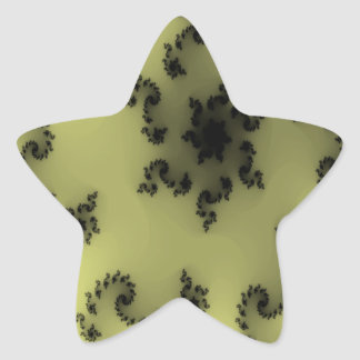 Black floral delight star stickers