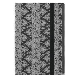 Black Floral Fine Lace Texture iPad Cover