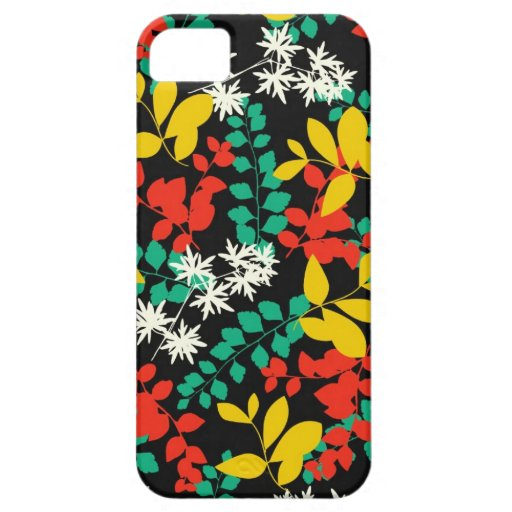 Black floral girly flowers silhouette cool pattern iPhone 5 case