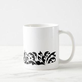 Black Floral Mug