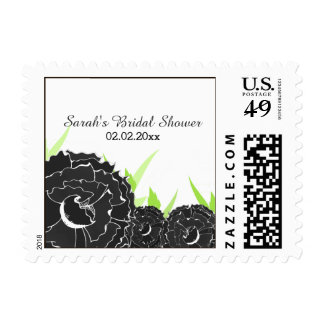 black floral Personalized Stamps