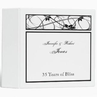 Black Floral Scroll Border Anniversary Binder