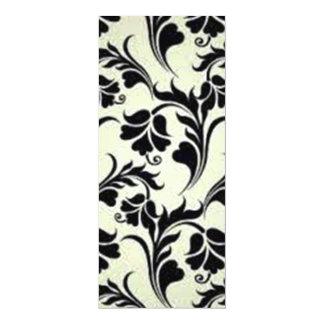 black floral standard card