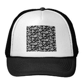 Black Floral Trucker Hat