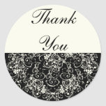 Black Floral Wedding Invitation Set Stickers