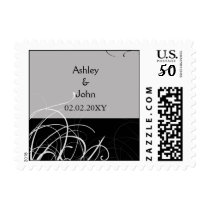 black floral wedding save the date postage