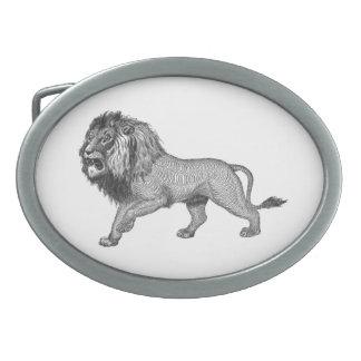 Black Flourish Lion Belt Buckles
