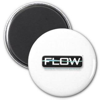 BLACK FLOW 2 INCH ROUND MAGNET