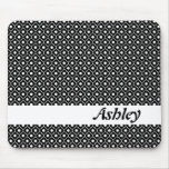 Black Flower Argyle Pattern Mousepad