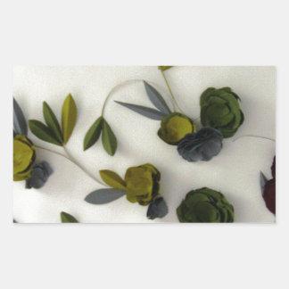 Black Flower by Robert E Meisinger 2014 Rectangular Sticker