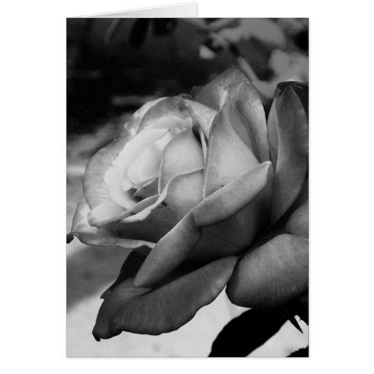 Black Flower Card