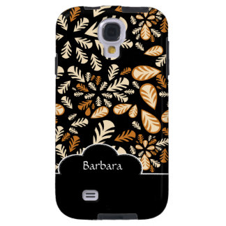Black Flower Floral Pattern Samsung Galaxy  S4 Cas Galaxy S4 Case