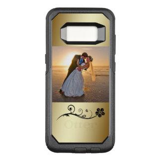 Black Flower Gold Photo Template OtterBox Commuter Samsung Galaxy S8 Case