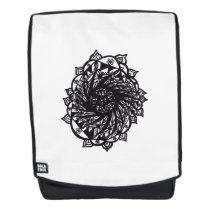 Black Flower Mandala 2 Backpack