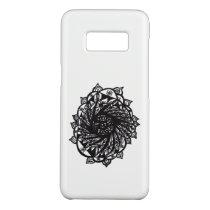 Black Flower Mandala 2 Case-Mate Samsung Galaxy S8 Case