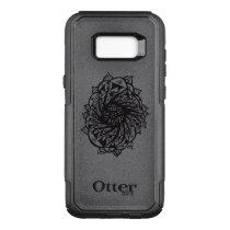 Black Flower Mandala 2 OtterBox Commuter Samsung Galaxy S8  Case
