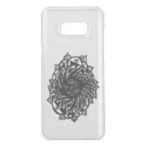 Black Flower Mandala 2 Uncommon Samsung Galaxy S8  Case