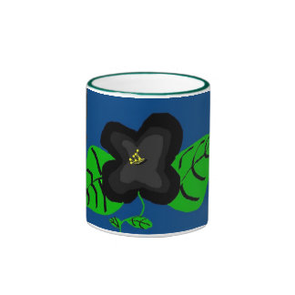 Black Flower mug