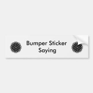 Black Flower Ribbon Bumper Sticker