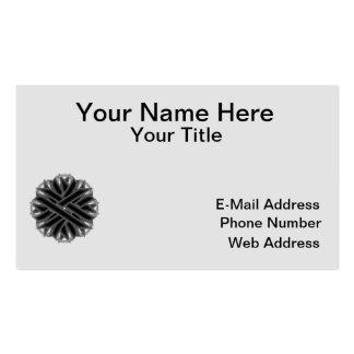 Black Flower Ribbon Business Card