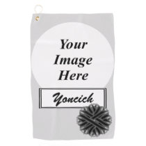 Black Flower Ribbon by Kenneth Yoncich Golf Towel
