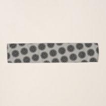 Black Flower Ribbon by Kenneth Yoncich Scarf