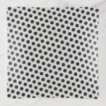 Black Flower Ribbon by Kenneth Yoncich Trinket Trays