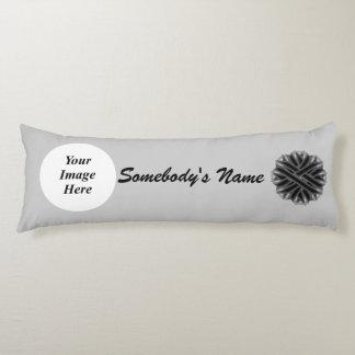 Black Flower Ribbon Template Body Pillow