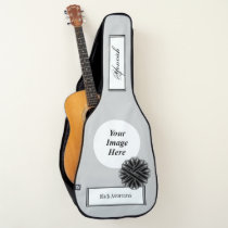 Black Flower Ribbon Template by Kenneth Yoncich Guitar Case