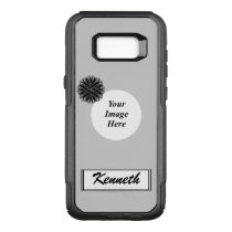 Black Flower Ribbon Template by Kenneth Yoncich OtterBox Commuter Samsung Galaxy S8  Case