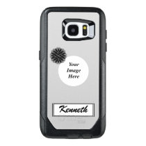 Black Flower Ribbon Template by Kenneth Yoncich OtterBox Samsung Galaxy S7 Edge Case