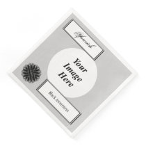 Black Flower Ribbon Template by Kenneth Yoncich Paper Dinner Napkin