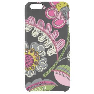 Black Flowers Big iPhone Deflector Case