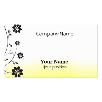 Black Flowers Business Cards
