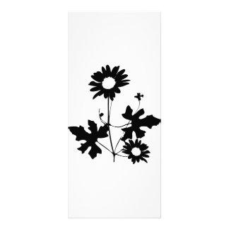 black flowers cirrus icon rack card