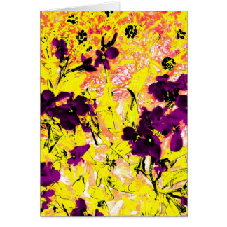 Black Flowers on a Sunny Day Greeting Card