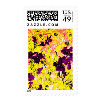 Black Flowers on a Sunny Day Stamps
