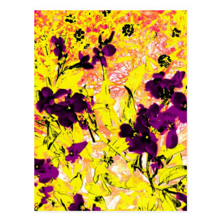 Black Flowers on a Sunny Day Postcard