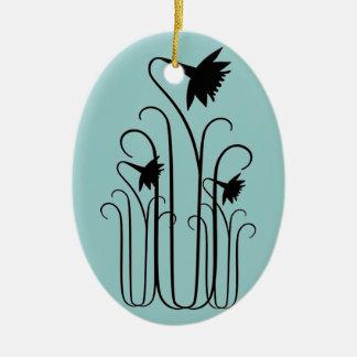 Black Flowers Ornament