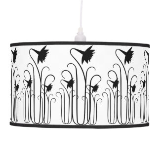 Black Flowers Pendant Lamp