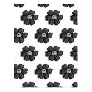Black Flowers Postcard
