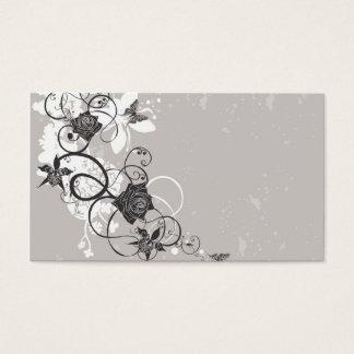 Black flowers Profile Card