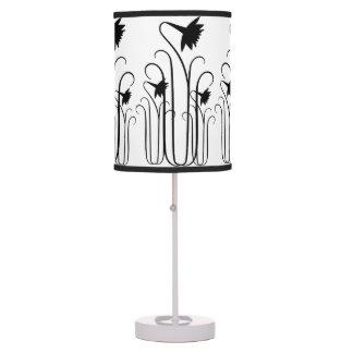 Black Flowers Table Lamp