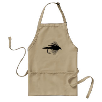 Black fly fishing lure aprons